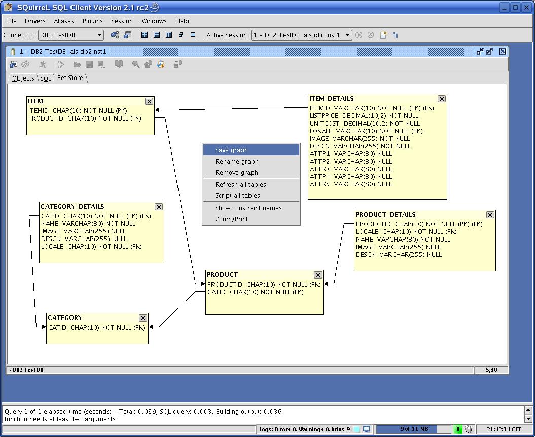graph Squirrel SQL: Universal SQL Client